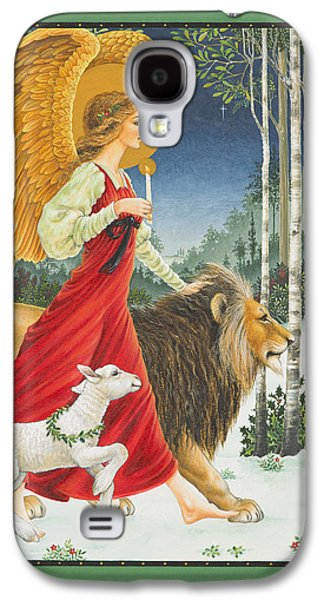 The Angel The Lion And The Lamb Galaxy S4 Case by Lynn Bywaters