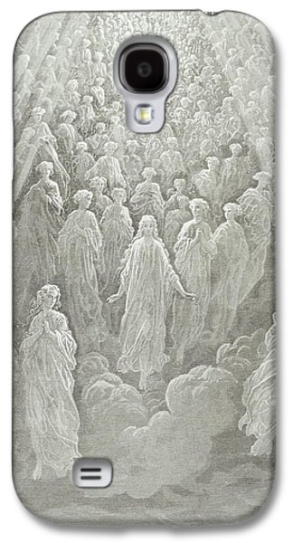 Christian Drawings Galaxy S4 Cases - The Angels in the Planet Mercury Galaxy S4 Case by Gustave Dore