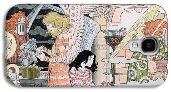 Christmas Eve Galaxy S4 Cases - The Angels Kitchen Galaxy S4 Case by Eugene Grasset