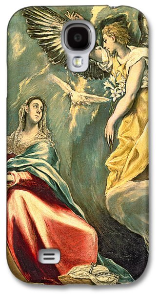 Religious Galaxy S4 Cases - The Annunciation, C.1595-1600 Oil On Canvas Galaxy S4 Case by El Greco
