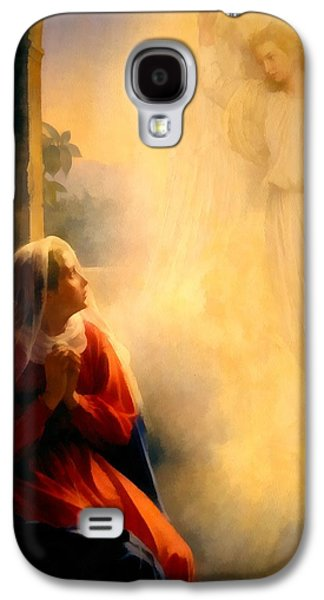 The Followers Galaxy S4 Cases - The Annunciation Galaxy S4 Case by Carl Bloch
