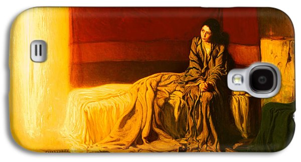 Christian work Paintings Galaxy S4 Cases - The Annunciation Galaxy S4 Case by Henry Tanner