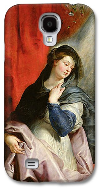 Shower Curtain Galaxy S4 Cases - The Annunciation Galaxy S4 Case by Peter Paul Rubens
