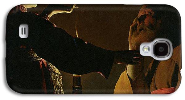 Tour Galaxy S4 Cases - The Appearance of the Angel to Saint Joseph Galaxy S4 Case by Georges de la Tour