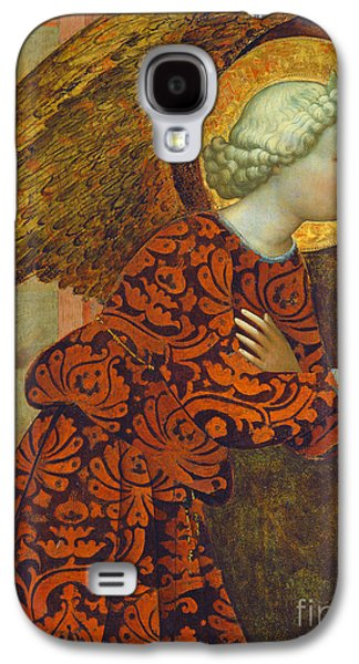 Renaissance Paintings Galaxy S4 Cases - The Archangel Gabriel Galaxy S4 Case by Tommaso Masolino da Panicale