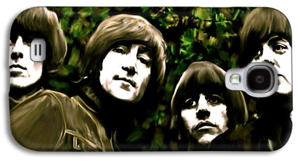 The Beatles Galaxy S4 Cases - The Art of Sound  The Beatles Galaxy S4 Case by Iconic Images Art Gallery David Pucciarelli