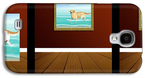 Dogs Digital Art Galaxy S4 Cases - The Artistic Process Galaxy S4 Case by Jacqueline Barden