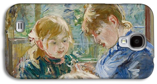 Bonding Galaxy S4 Cases - The Artists Daughter Galaxy S4 Case by Berthe Morisot