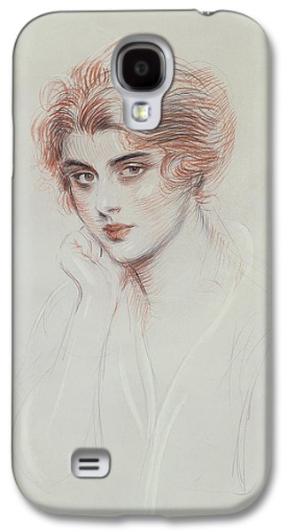 20th Drawings Galaxy S4 Cases - The Artists Daughter Galaxy S4 Case by Paul Cesar Helleu