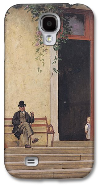 Gerome Galaxy S4 Cases - The Artists Father and Son on the Doorstep of his House Galaxy S4 Case by Jean Leon Gerome