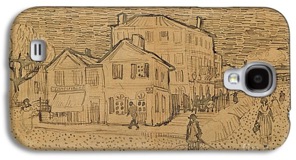 Pen And Ink Drawing Drawings Galaxy S4 Cases - The Artists House in Arles Galaxy S4 Case by Vincent Van Gogh