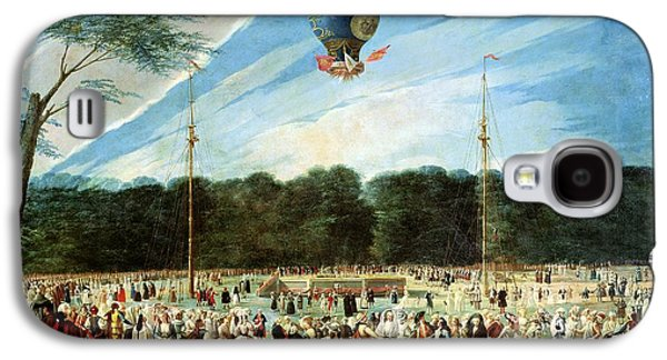 Crowd Galaxy S4 Cases - The Ascent Of The Montgolfier Balloon At Aranjuez, C.1764 Oil On Canvas Galaxy S4 Case by Antonio Carnicero