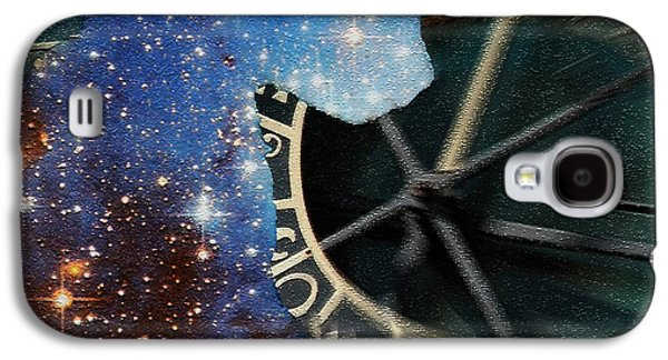 Czech Republic Digital Art Galaxy S4 Cases - The Astronomers Cat Galaxy S4 Case by Elizabeth McTaggart
