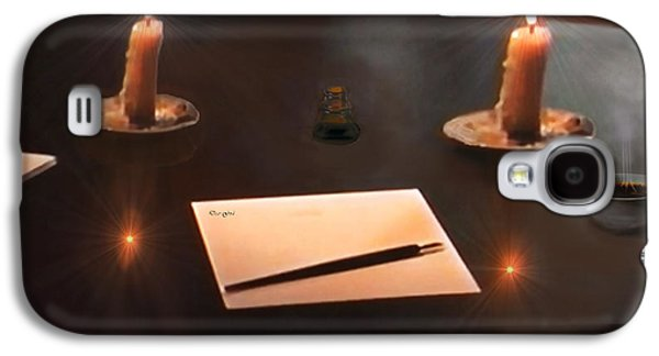 Candle Stand Galaxy S4 Cases - The Author Galaxy S4 Case by Michael Rucker