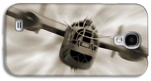 Warbird Galaxy S4 Cases - The B - 24 Liberator Panoramic  Galaxy S4 Case by Mike McGlothlen