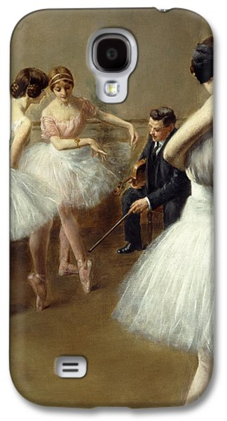 Lessons Galaxy S4 Cases - The Ballet Lesson Galaxy S4 Case by Pierre Carrier-Belleuse
