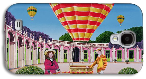 Psychedelic Photographs Galaxy S4 Cases - The Balloonist, 1986 Acrylic On Board Galaxy S4 Case by Anthony Southcombe