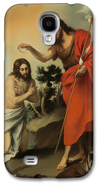 Christian work Paintings Galaxy S4 Cases - The Baptism of Christ Galaxy S4 Case by Bartolome Murillo