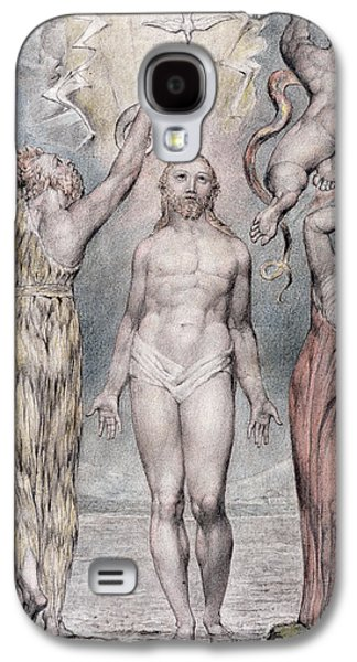 Religious Drawings Galaxy S4 Cases - The Baptism Of Christ Galaxy S4 Case by William Blake