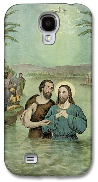 Saints Drawings Galaxy S4 Cases - The Baptism of Jesus Christ Circa 1893 Galaxy S4 Case by Aged Pixel