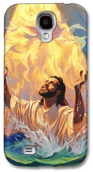 Religious Galaxy S4 Cases - The Baptism of Jesus Galaxy S4 Case by Jeff Haynie