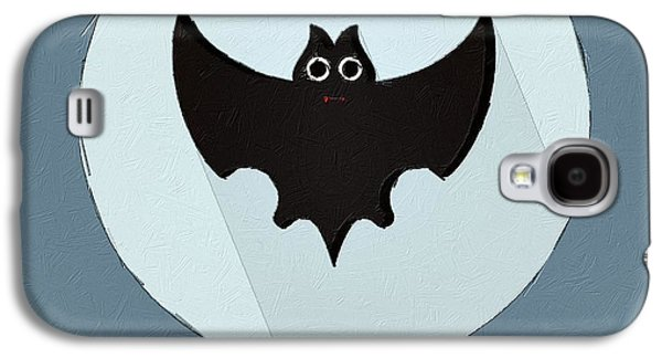 Bat Digital Art Galaxy S4 Cases - The Bat Cute Portrait Galaxy S4 Case by Florian Rodarte