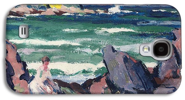 Change Paintings Galaxy S4 Cases - The Bather Galaxy S4 Case by Francis Campbell Boileau Cadell