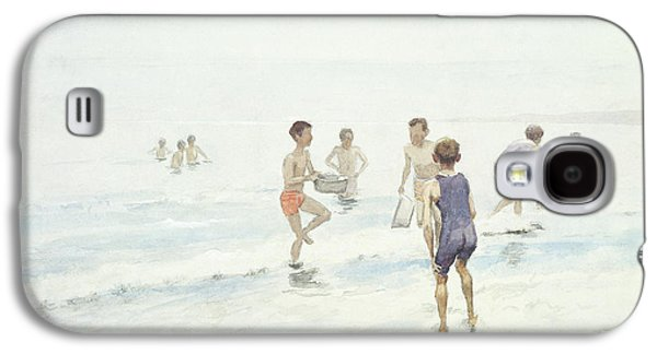 Male Paintings Galaxy S4 Cases - The Bathers Galaxy S4 Case by Edward van Goethem