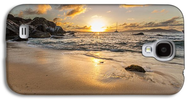 Surf Silhouette Galaxy S4 Cases - The Baths Sunset Galaxy S4 Case by Bruno Kolovrat