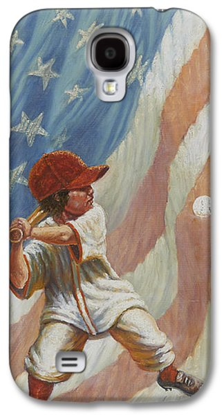 Grand Slam Galaxy S4 Cases - The Batter Galaxy S4 Case by Gregory Perillo