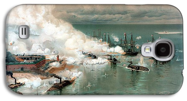 United States Paintings Galaxy S4 Cases - The Battle Of Mobile Bay Galaxy S4 Case by War Is Hell Store