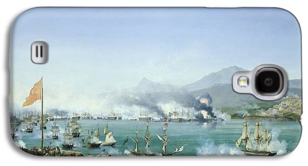 Independence Paintings Galaxy S4 Cases - The Battle of Navarino Galaxy S4 Case by Ambroise Louis Garneray