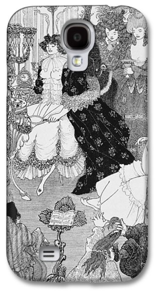 Lines Drawings Galaxy S4 Cases - The Battle of the Beaux and the Belles Galaxy S4 Case by Aubrey Beardsley
