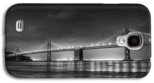 Oakland Photographs Galaxy S4 Cases - The Bay Bridge Monochrome Galaxy S4 Case by Scott Norris
