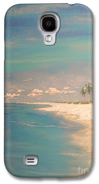 Beach Landscape Pastels Galaxy S4 Cases - The Bay Galaxy S4 Case by The Beach  Dreamer