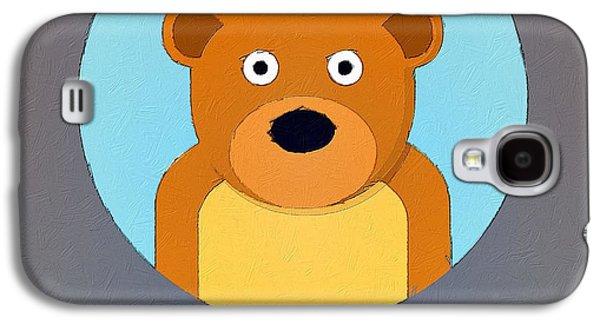 Bear Digital Galaxy S4 Cases - The Bear Cute Portrait Galaxy S4 Case by Florian Rodarte