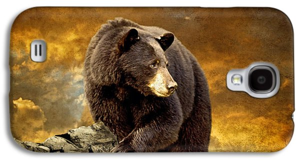 Bear Digital Galaxy S4 Cases - The Bear Went Over The Mountain Galaxy S4 Case by Lois Bryan