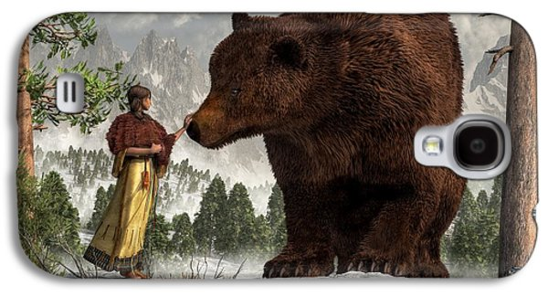 Remington Digital Galaxy S4 Cases - The Bear Woman Galaxy S4 Case by Daniel Eskridge