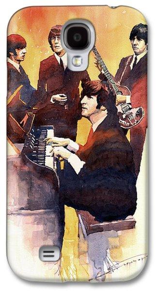 John Lennon Galaxy S4 Cases - The Beatles 01 Galaxy S4 Case by Yuriy  Shevchuk