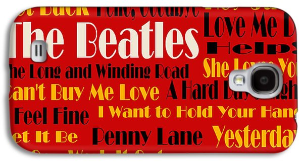 Beatles Galaxy S4 Cases - The Beatles 20 Classic Rock Songs 2 Galaxy S4 Case by Andee Design