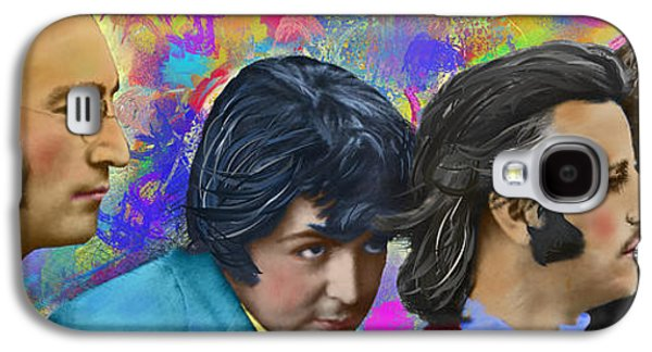 Beatles Galaxy S4 Cases - The Beatles 4 Galaxy S4 Case by Donald Pavlica
