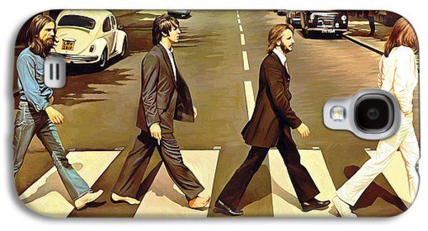 Mccartney Galaxy S4 Cases - The Beatles Abbey Road Artwork Galaxy S4 Case by Sheraz A