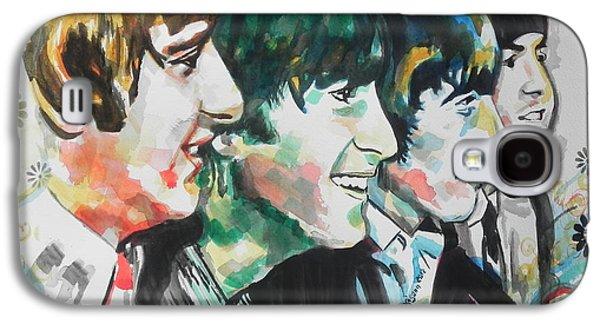 Beatles Galaxy S4 Cases - The Beatles 01 Galaxy S4 Case by Chrisann Ellis