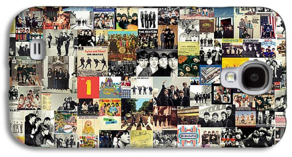 Mccartney Galaxy S4 Cases - The Beatles Collage Galaxy S4 Case by Taylan Soyturk