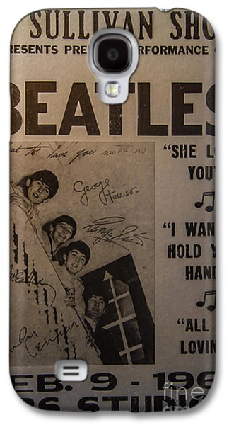 Best Sellers -  - Studio Photographs Galaxy S4 Cases - The Beatles Ed Sullivan Show Poster Galaxy S4 Case by Mitch Shindelbower