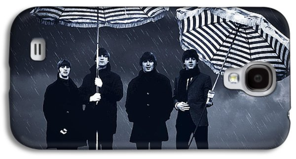 The Beatles Galaxy S4 Cases - The Beatles in the rain Galaxy S4 Case by Aged Pixel