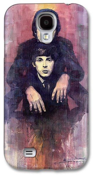 The Beatles John Lennon And Paul Mccartney Galaxy S4 Case by Yuriy  Shevchuk
