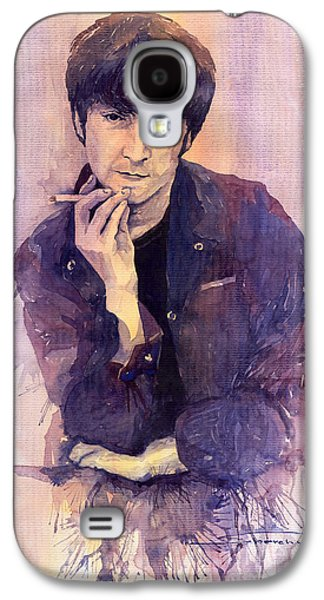 John Lennon Paintings Galaxy S4 Cases - The Beatles John Lennon Galaxy S4 Case by Yuriy  Shevchuk