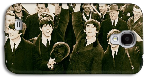 Beatles Photographs Galaxy S4 Cases - The Beatles Land in America - 1964 Galaxy S4 Case by Mountain Dreams