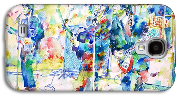 Fab Four Galaxy S4 Cases - THE BEATLES LIVE CONCERT - watercolor portrait Galaxy S4 Case by Fabrizio Cassetta